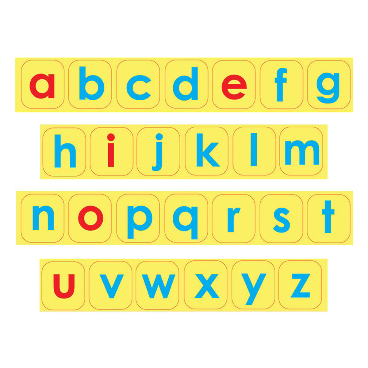 Lowercase Letter Foam Magnets