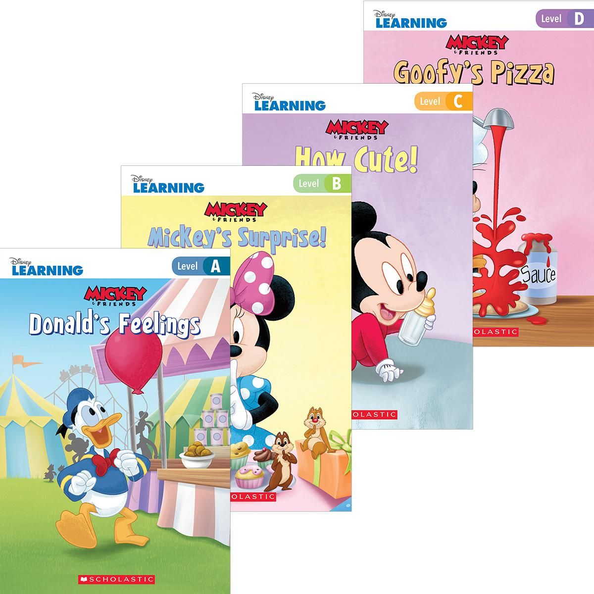Disney Learning: Mickey & Friends Leveled Readers Pack (A-D)