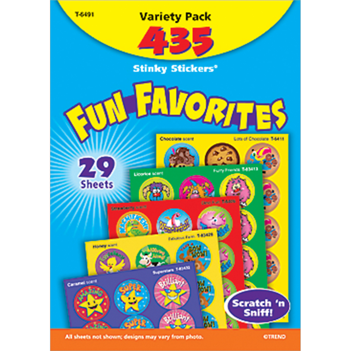 Fun Favorites Stinky Stickers Variety Pack