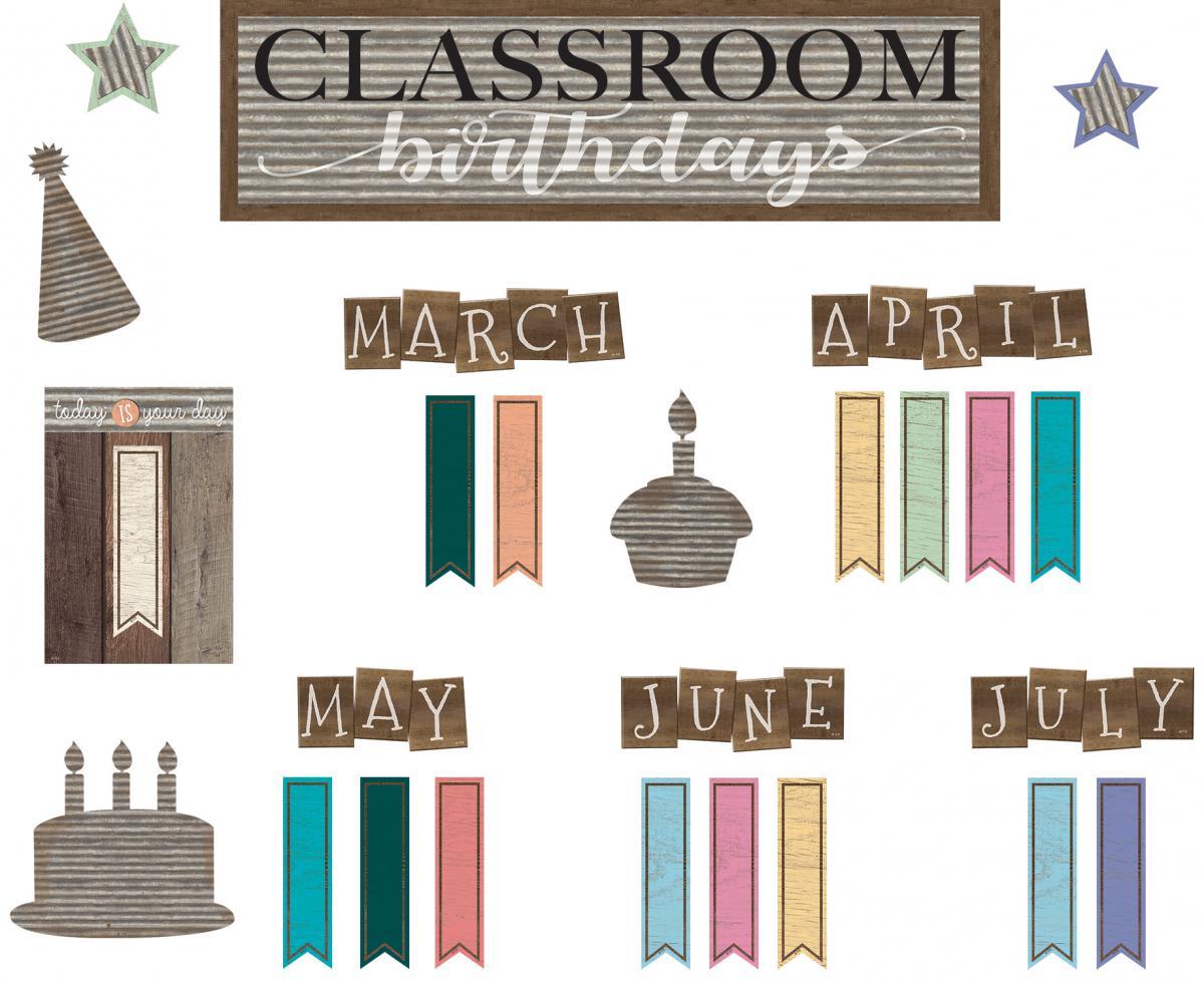 Home Sweet Classroom Birthday Mini Bulletin Board Set
