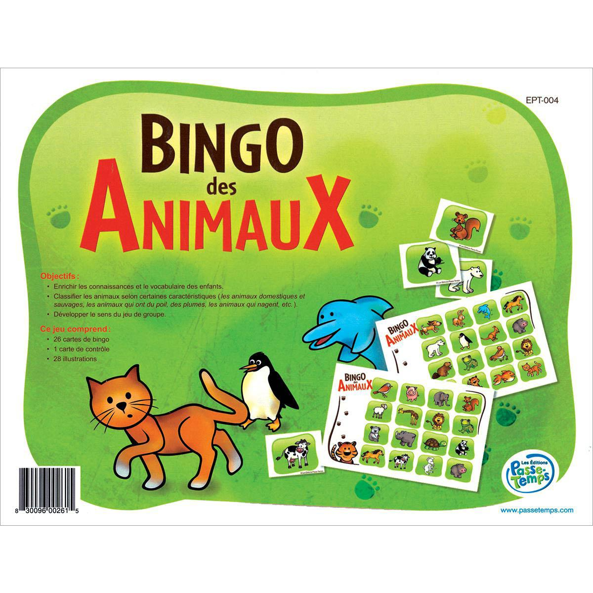Bingo des animaux