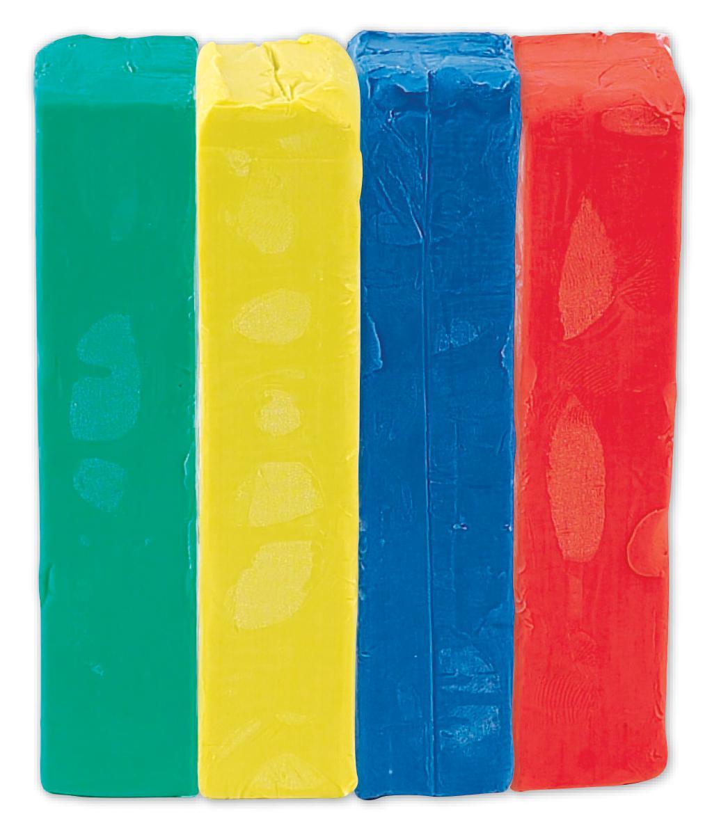 Pâte à modeler : 4 couleurs primaires