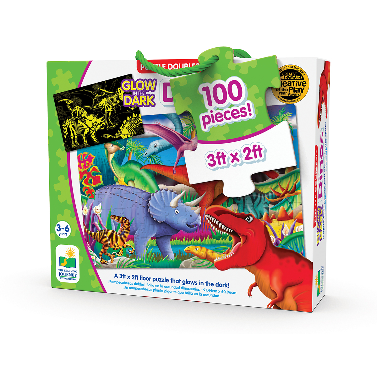 Puzzle Doubles! Glow In The Dark: Dinosaurs