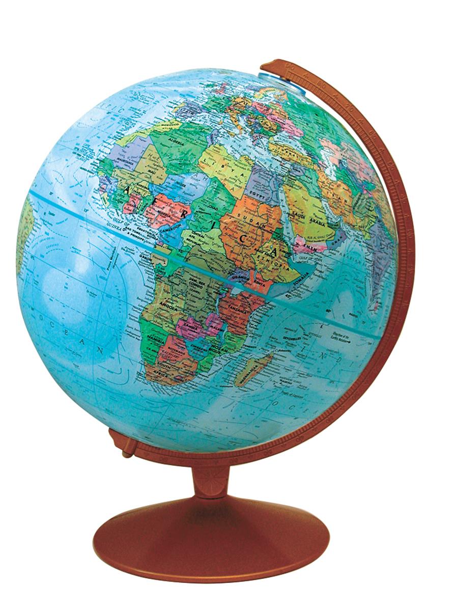 Globe terrestre Base métallique