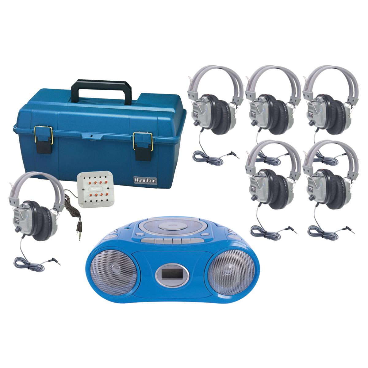 Station d'écoute Hamilton™ de luxe à 6 places avec Bluetooth®, CD, cassette et FM