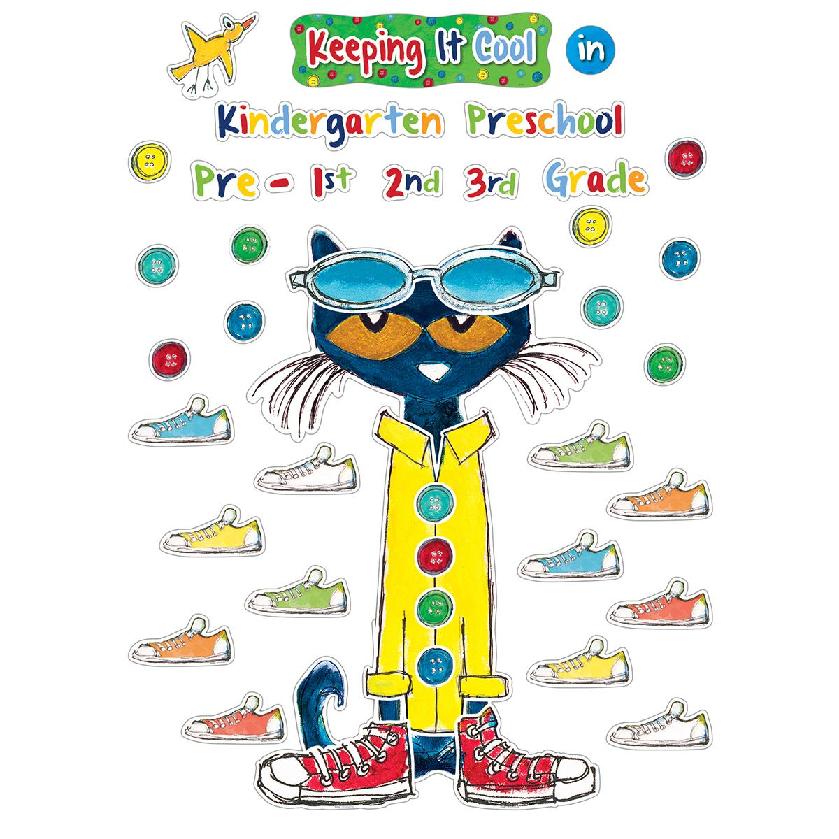 Pete the Cat© Keeping it Cool In... Bulletin Board Set