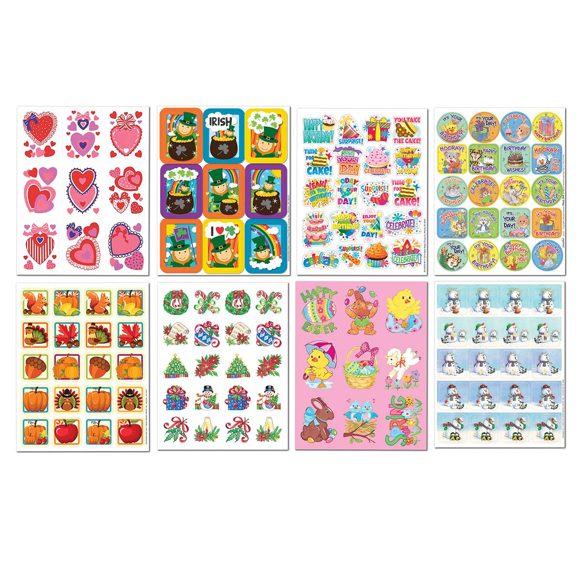 Seasonal/Holiday/Birthday Sticker Assortment