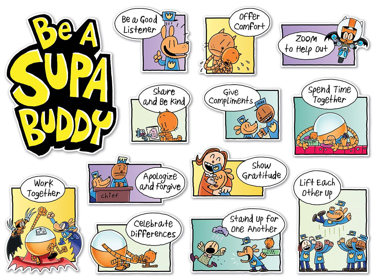 Dog Man: Be a Super Buddy Bulletin Board Set