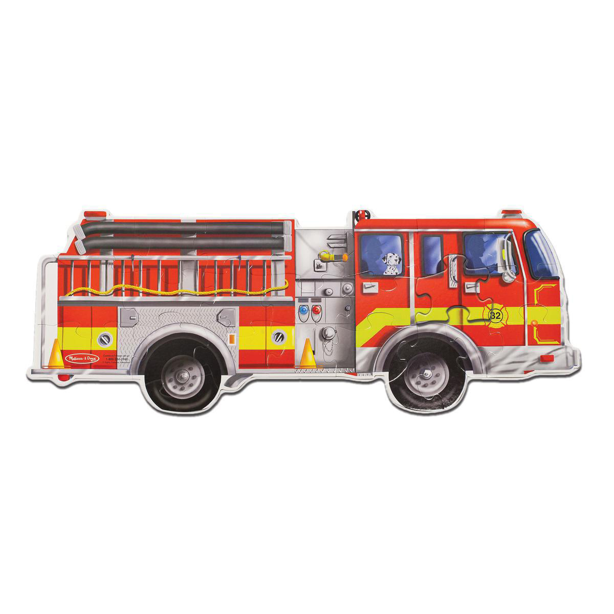 Giant Fire Engine Floor Puzzle