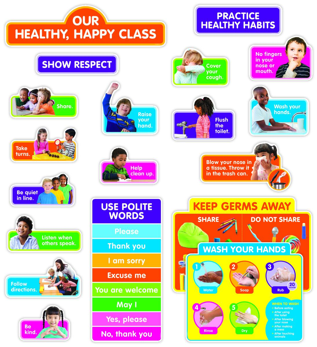 Our Healthy, Happy Class Bulletin Board Set