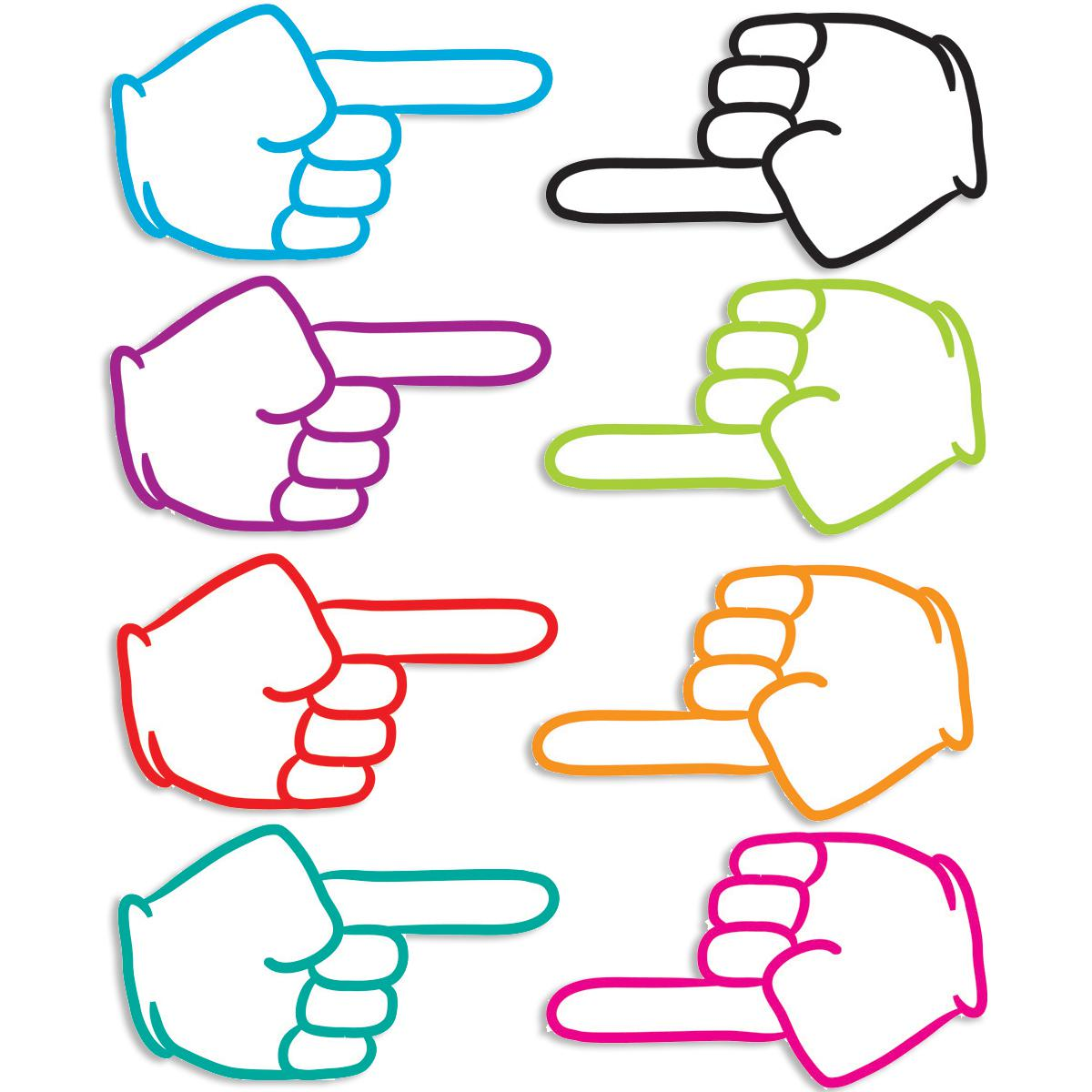 Pointing Fingers Magnetic Die-Cut 8-Piece