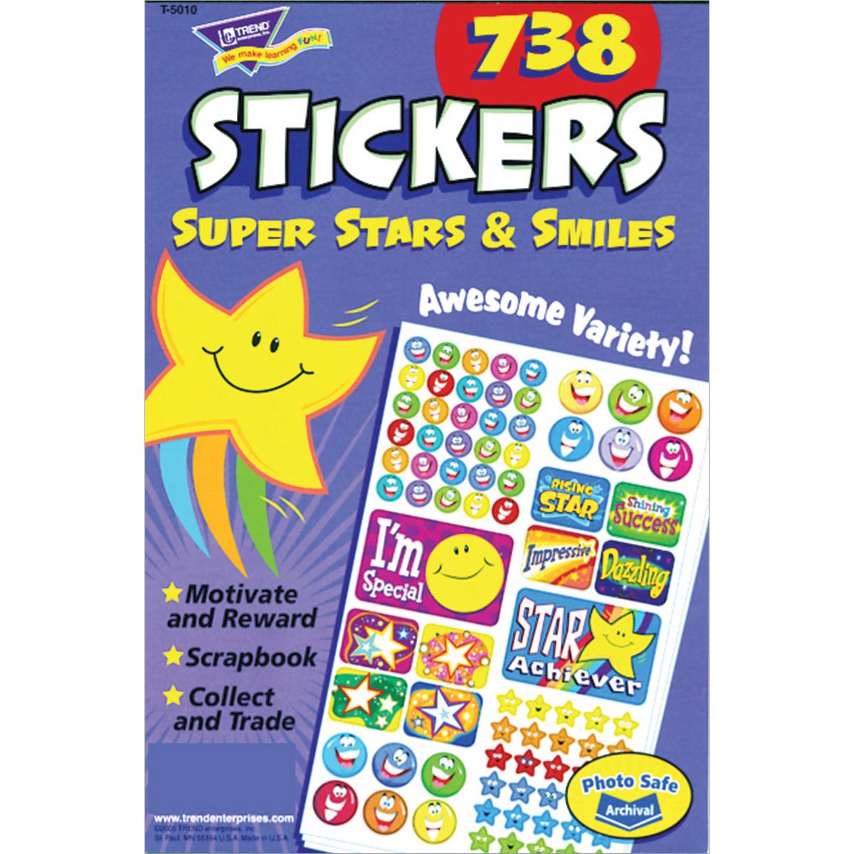 Super Stars & Smiles Sticker Book