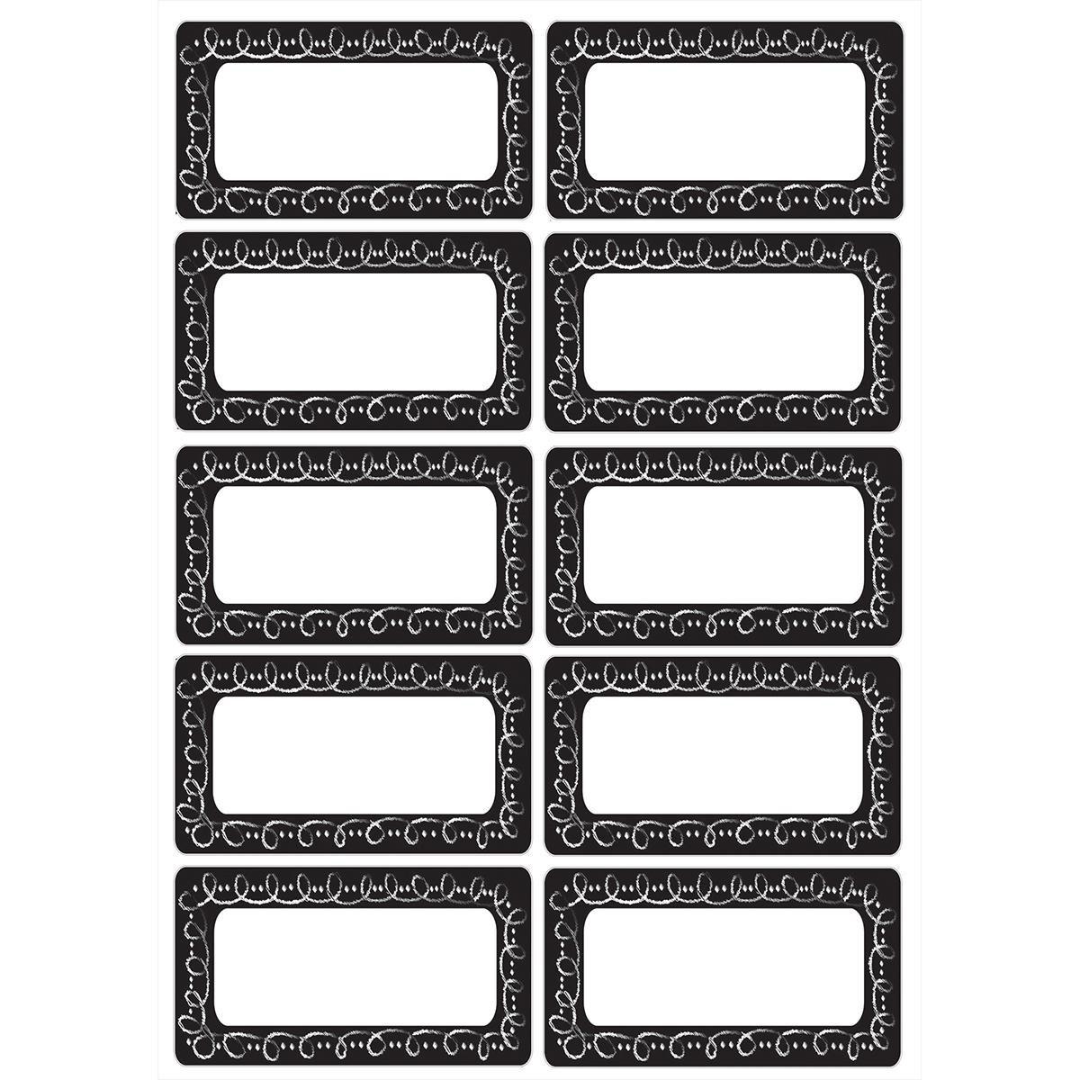 Plaques nominatives magnétiques: Tableau noir