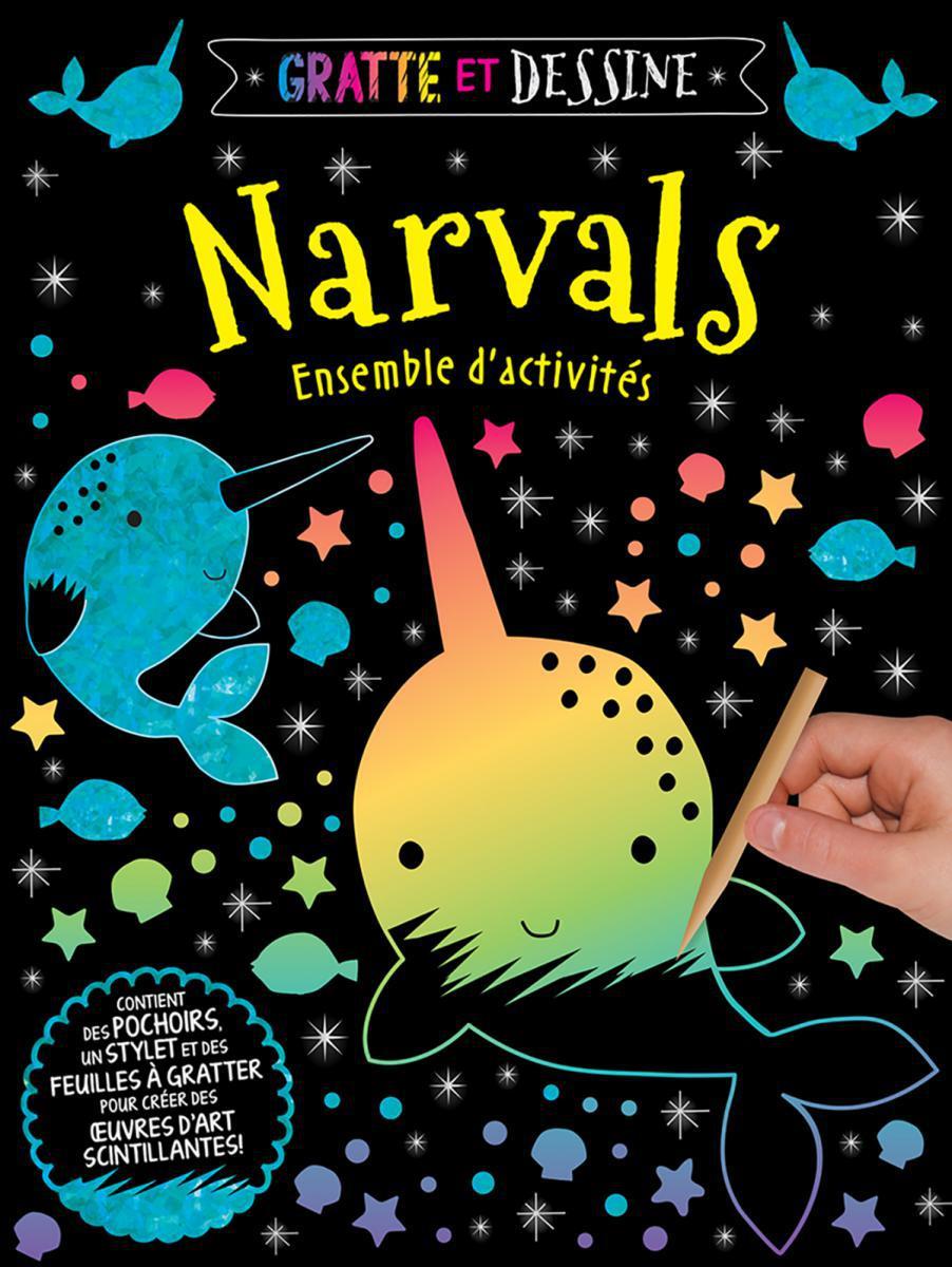 Gratte et dessine : Narvals