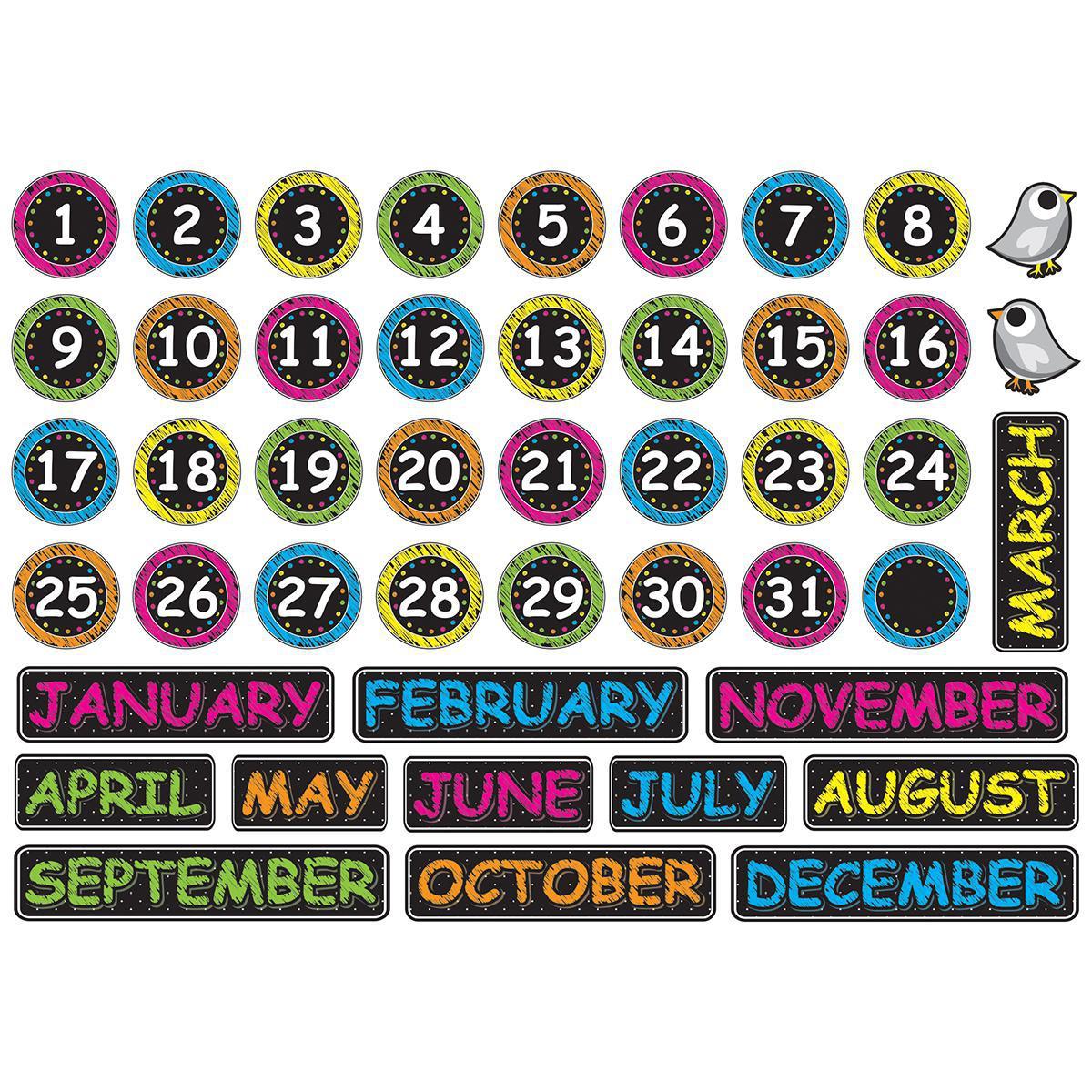 Magnetic Chalk Calendar Helpers