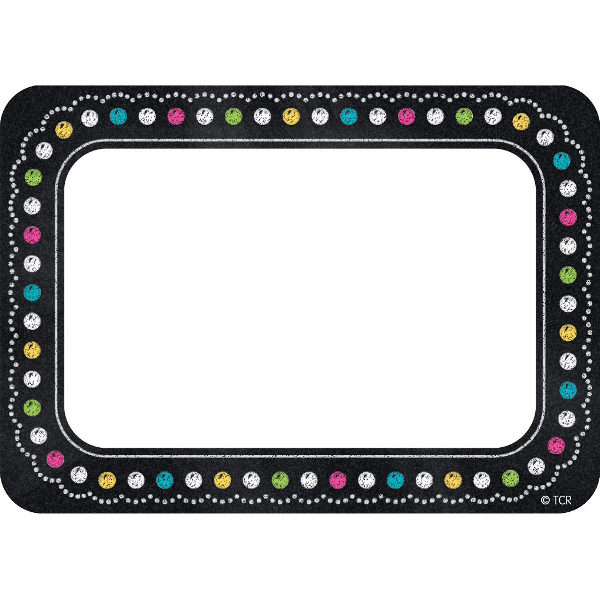 Chalkboard Brights Name Tags and Labels