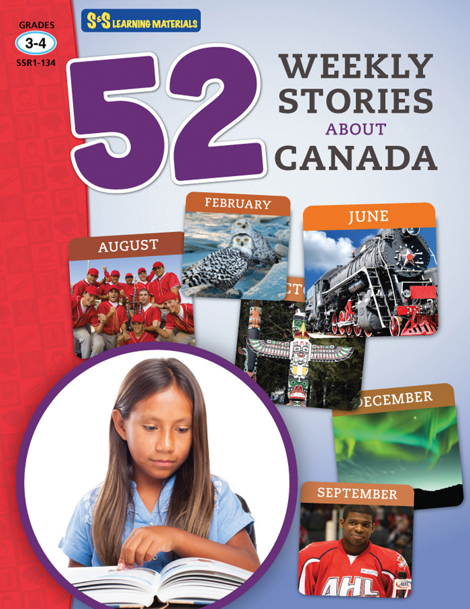52 Weekly Stories About Canada: Gr. 3-4
