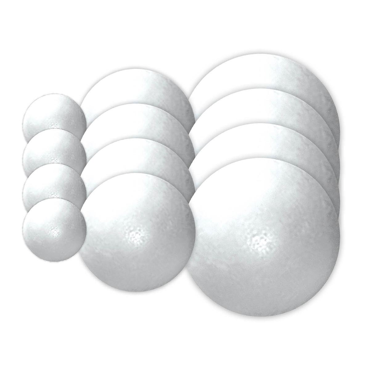 Balles en styromousse