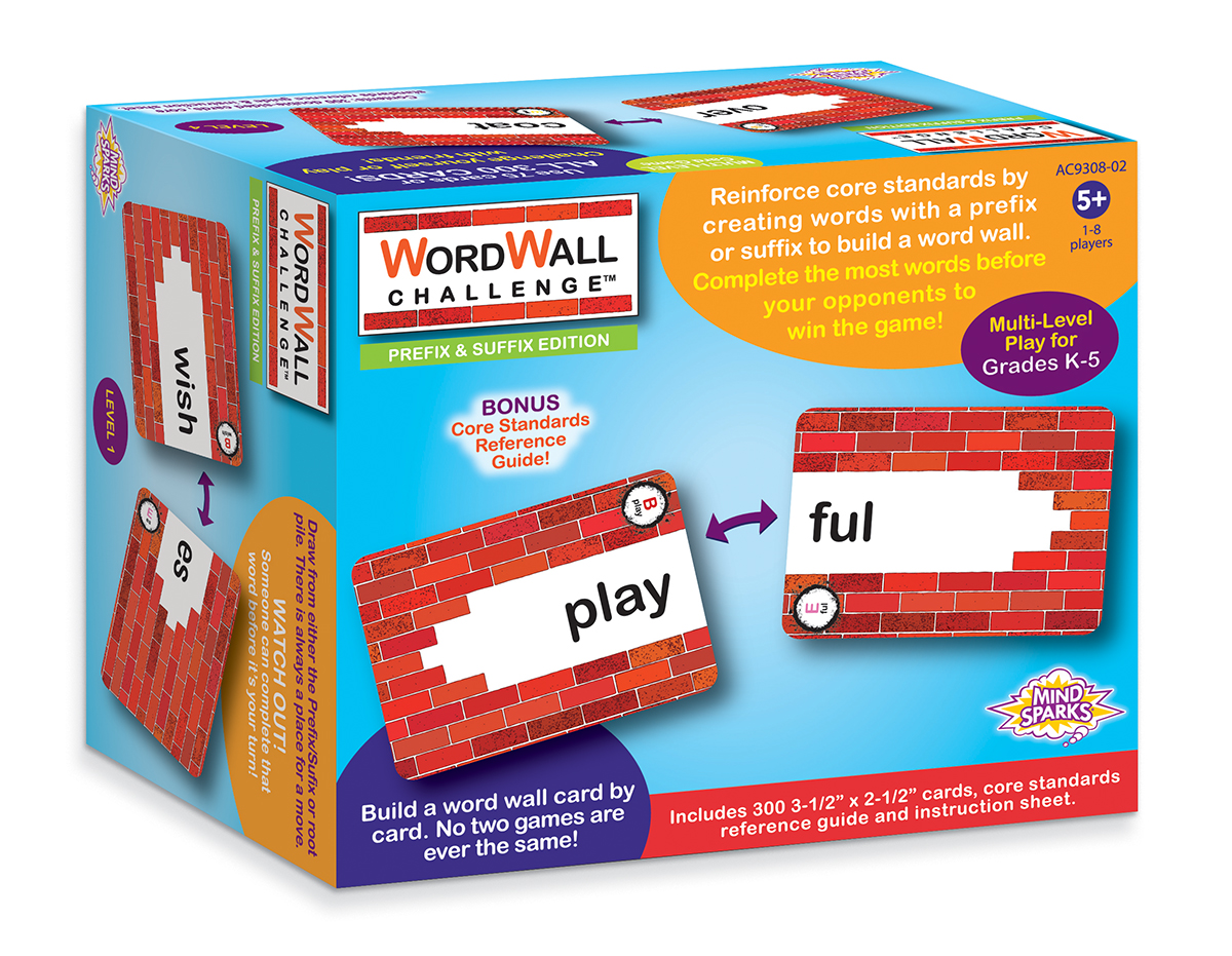 Mins Sparks WordWall Challenge Card Game: Prefixes & Suffixes