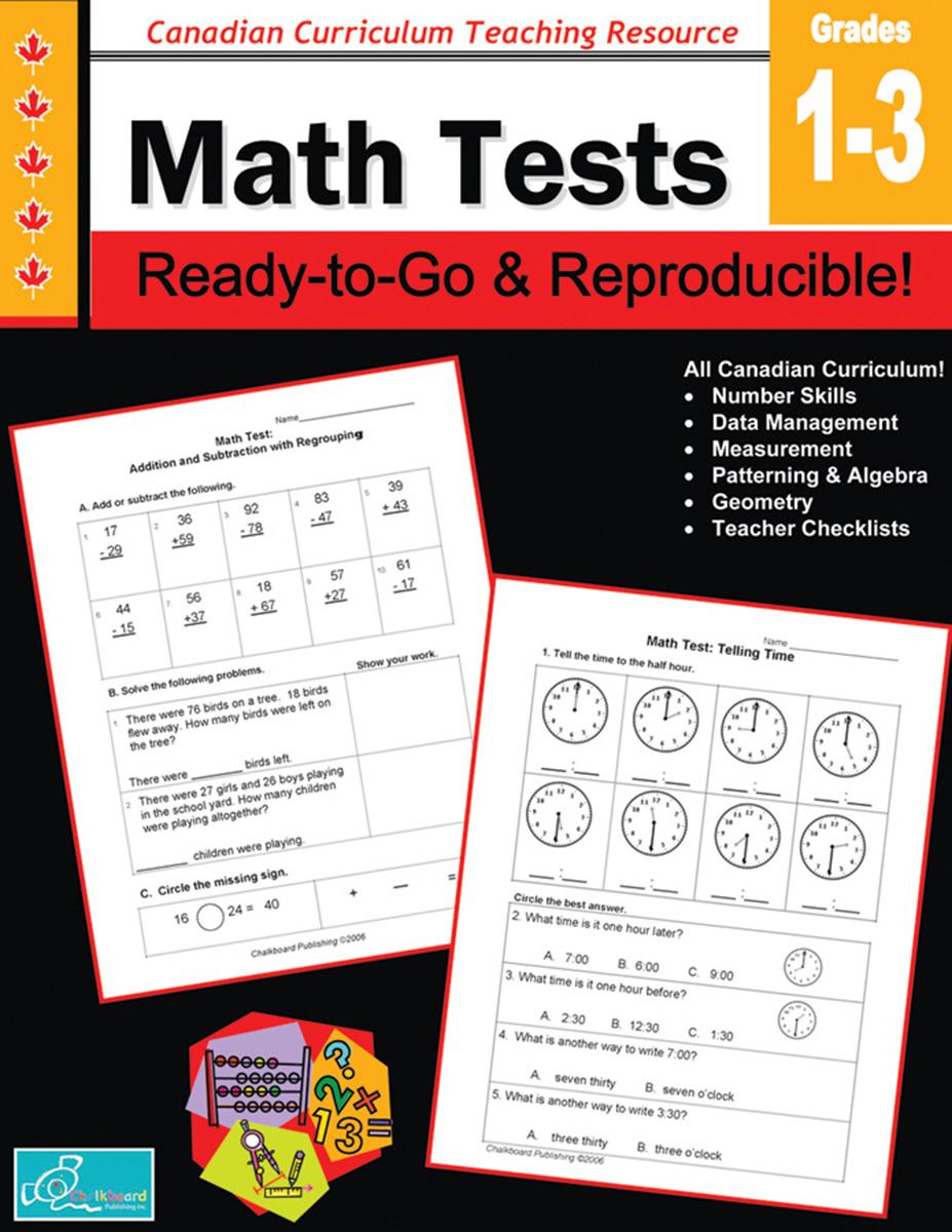 Math Tests Gr. 1-3