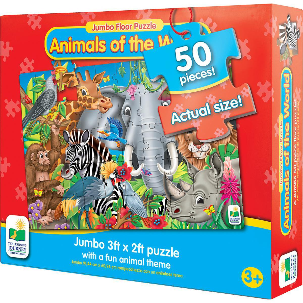 Jumbo Floor Puzzle Animals of the World
