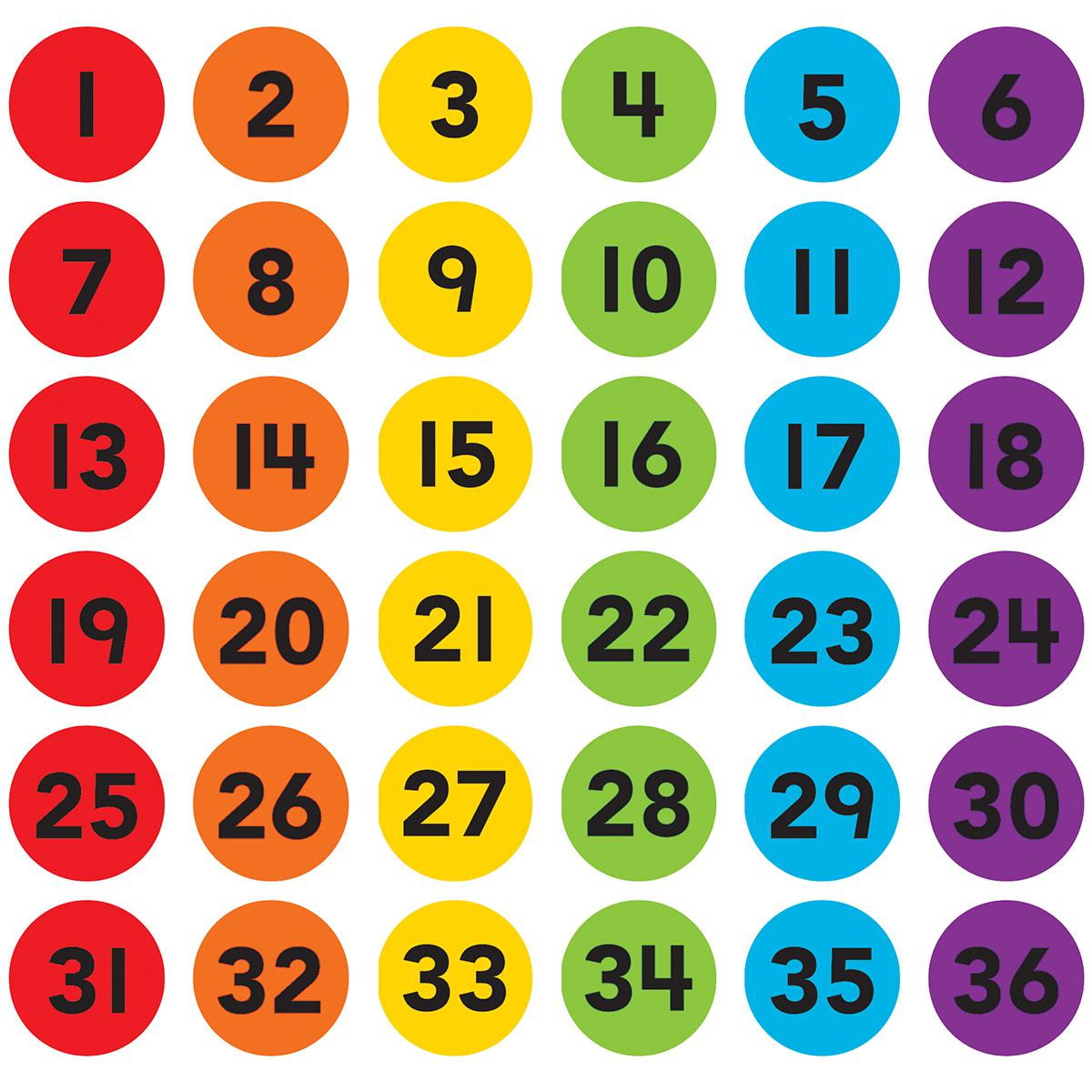 Spot On® Carpet Markers: Numbers