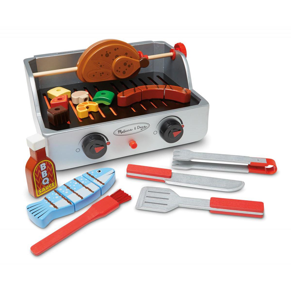 Wooden Rotisserie and Grill BBQ Set