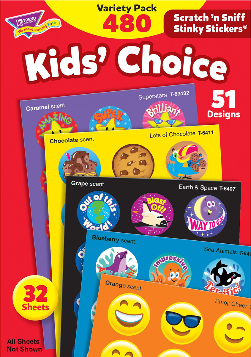 Kids' Choice Stinky Stickers Variety Pack