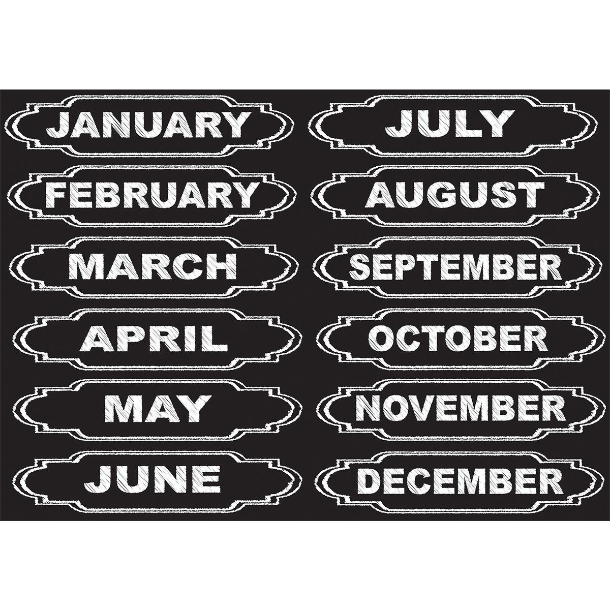 Magnetic Chalk Months