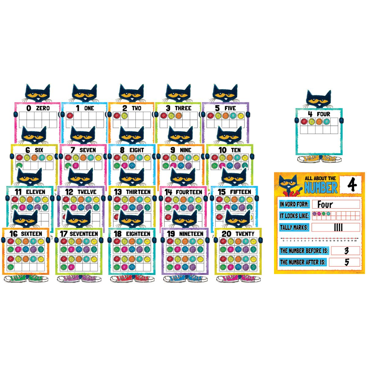 Pete the Cat© Numbers Bulletin Board Set