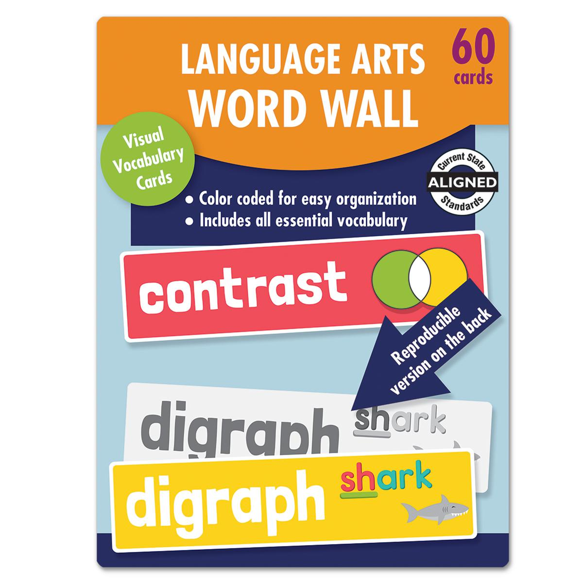 Language Arts Word Walls Learning Cards Gr. 2