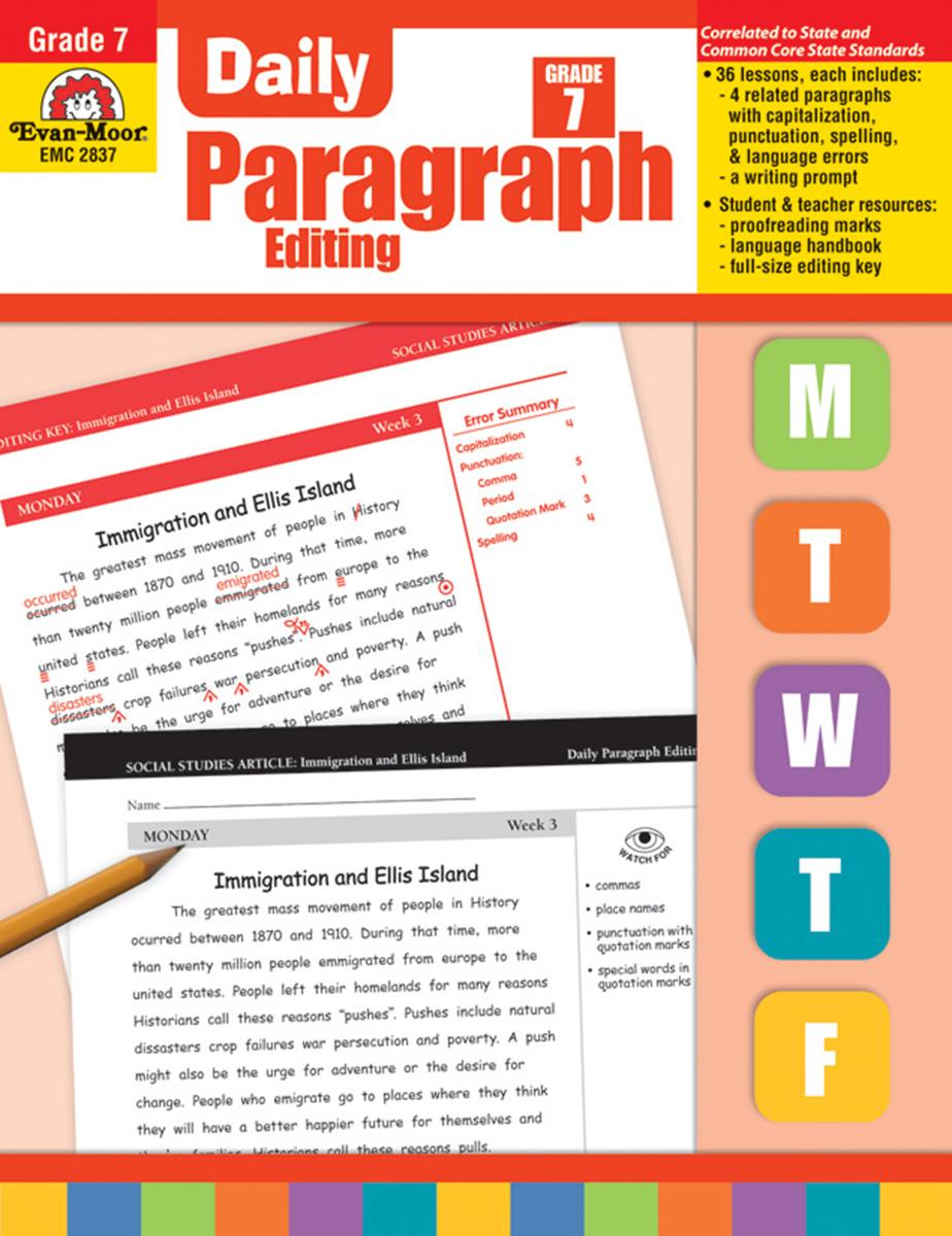 Daily Paragraph Editing Grade 7