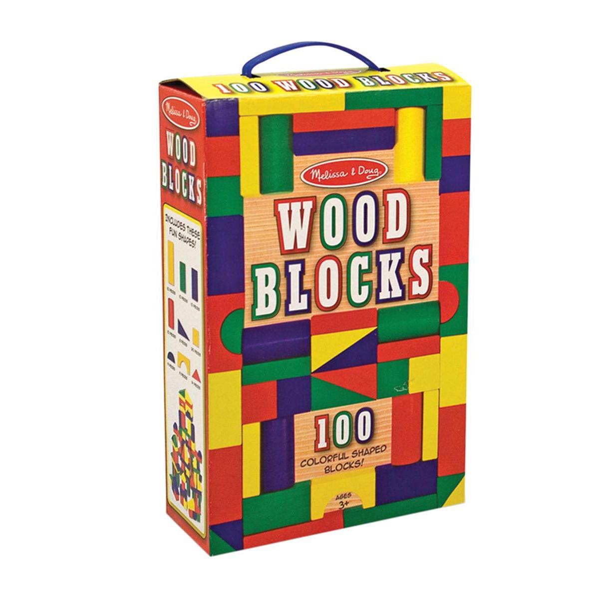 Blocs de bois colorés