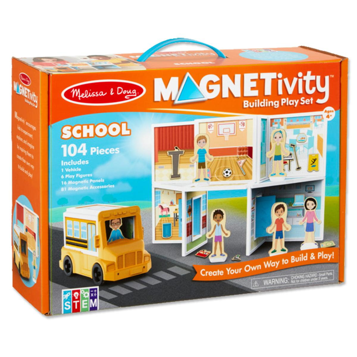 Magnetivity - Magnetic Building Play Set: School