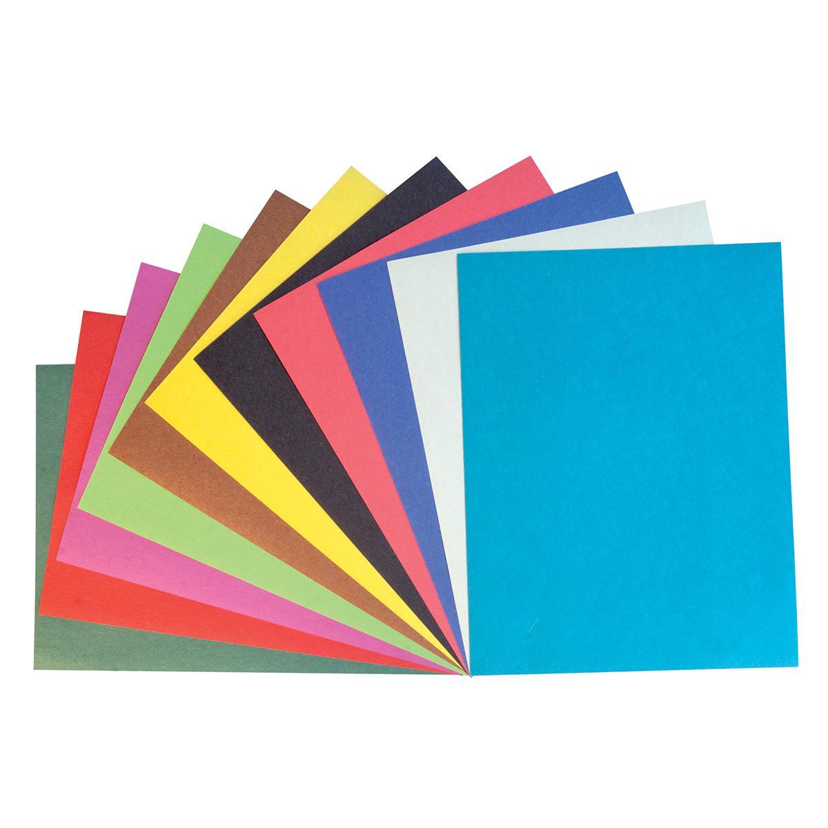 Construction Paper: Rainbow, 500 Sheets