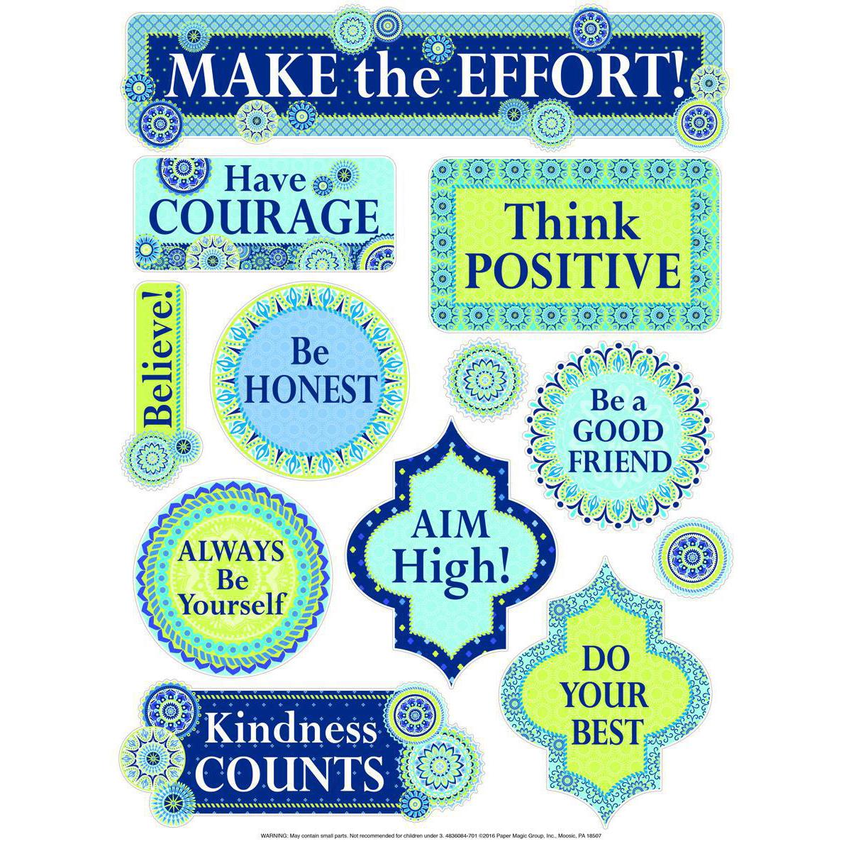 Blue Harmony Positive Words Window Clings