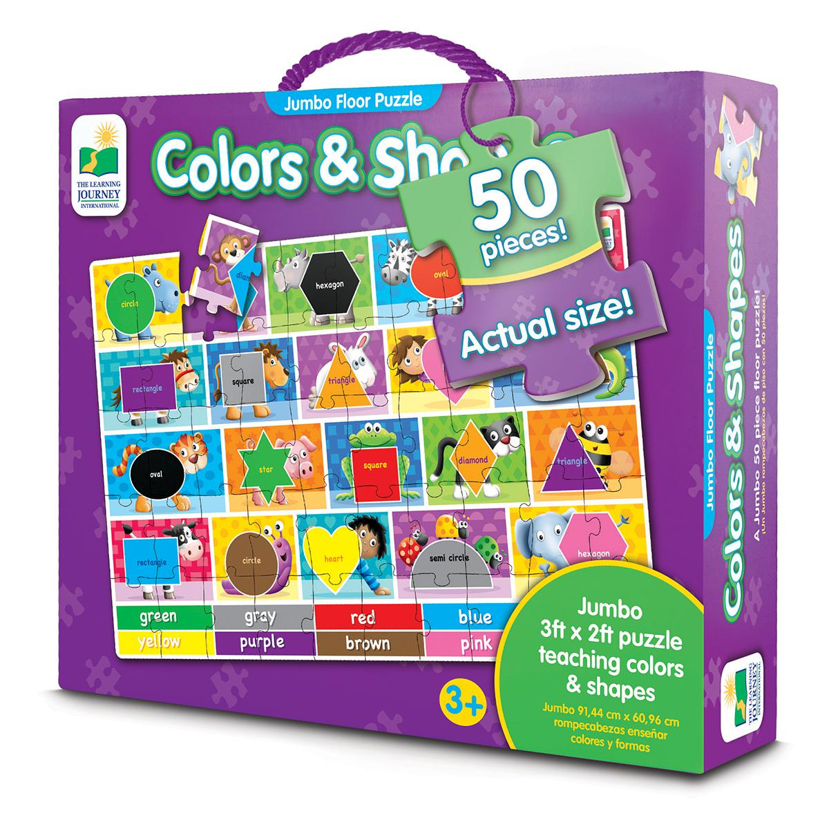 Jumbo Floor Puzzle: Colors & Shapes