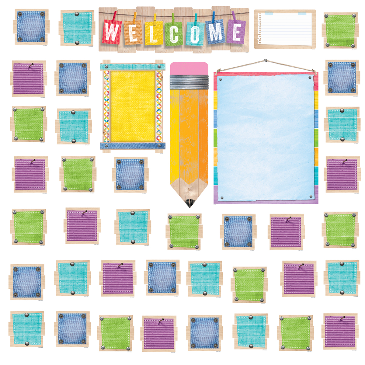Upcycle Welcome Bulletin Board Set