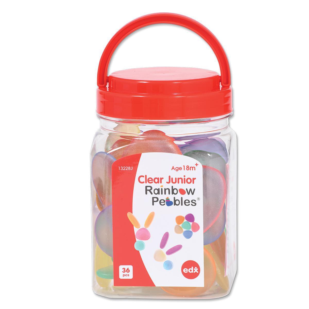 Transparent Junior Rainbow Pebbles