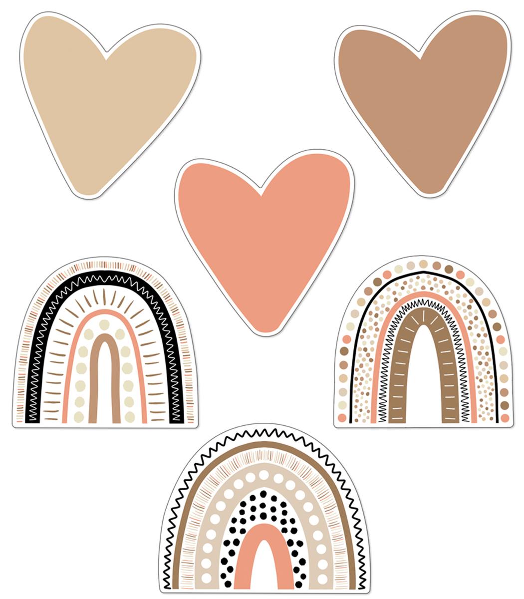 Boho Rainbows & Hearts Cut-Outs
