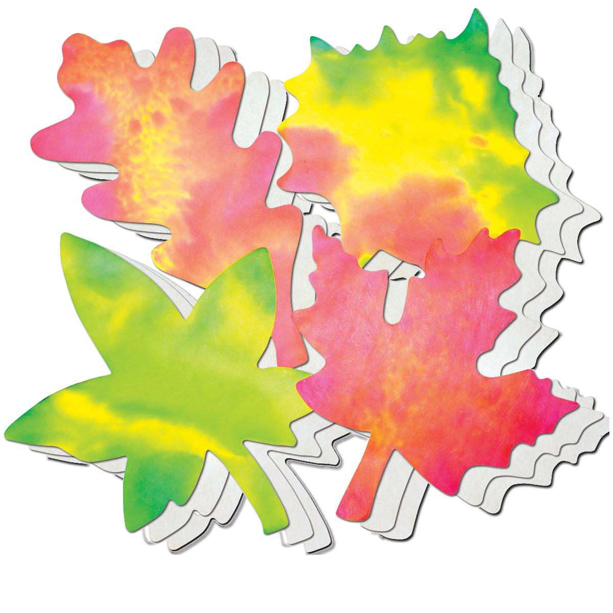 Colour Diffusing Paper Leaves