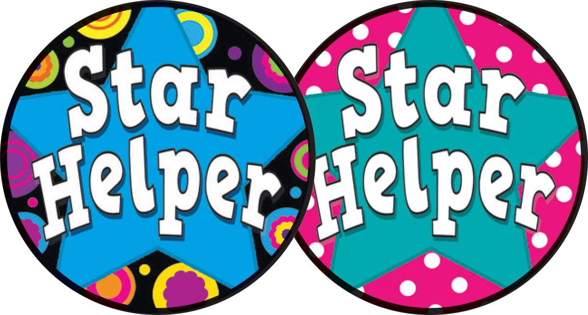 Star Helper Wear 'em Badges