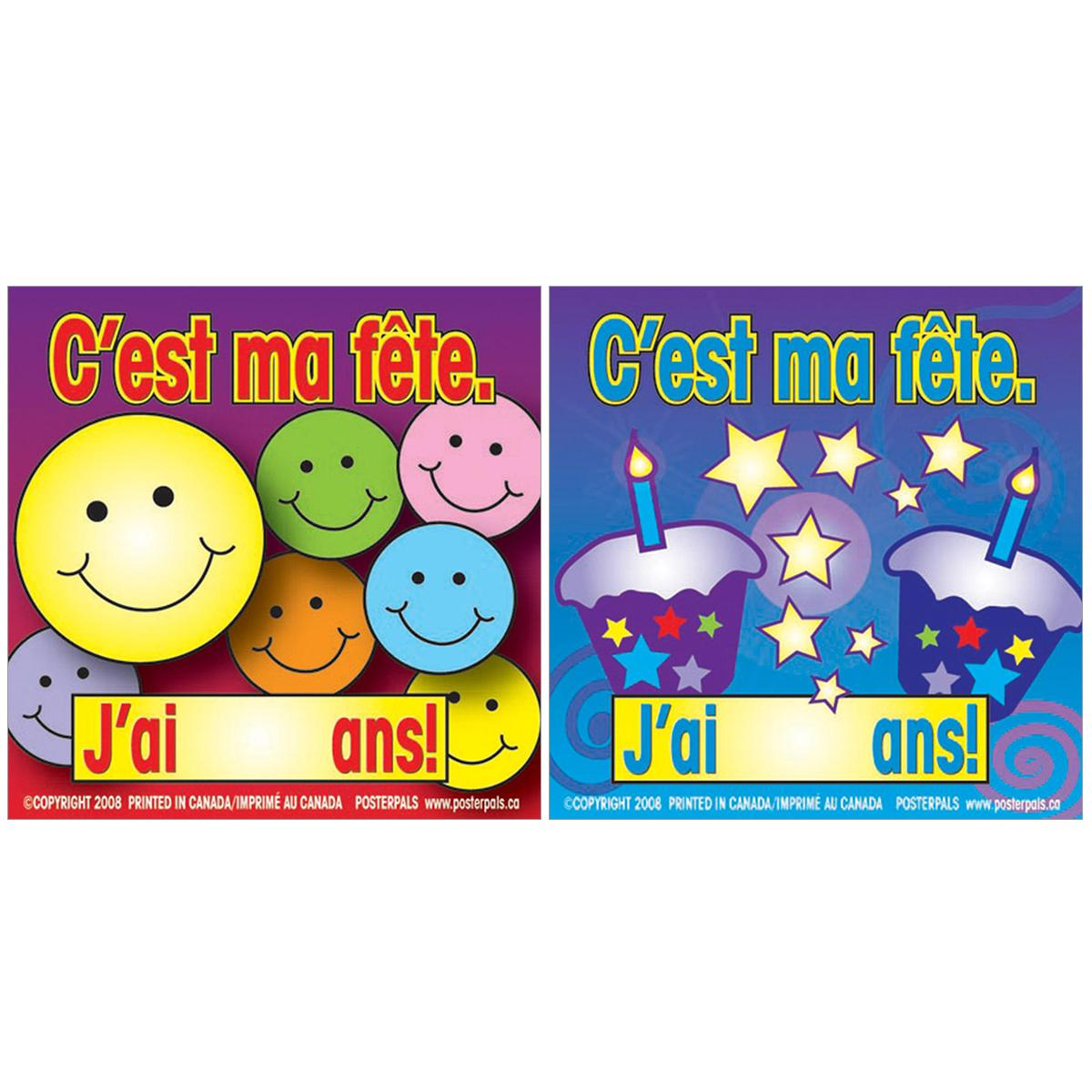 French Birthday Badges
