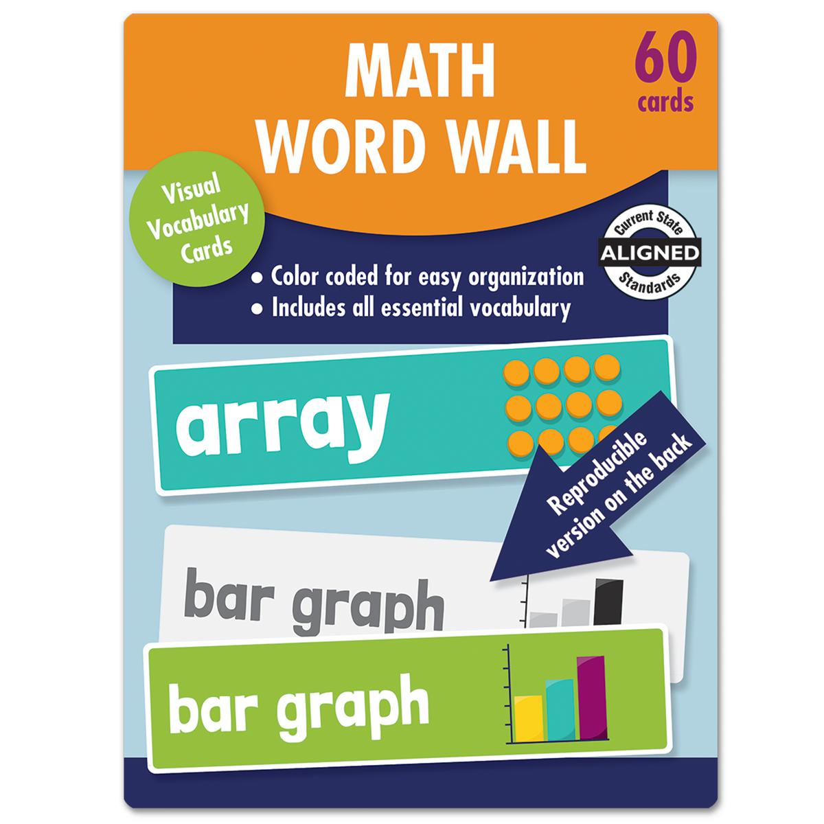 Math Word Wall Learning Cards: Grade 2