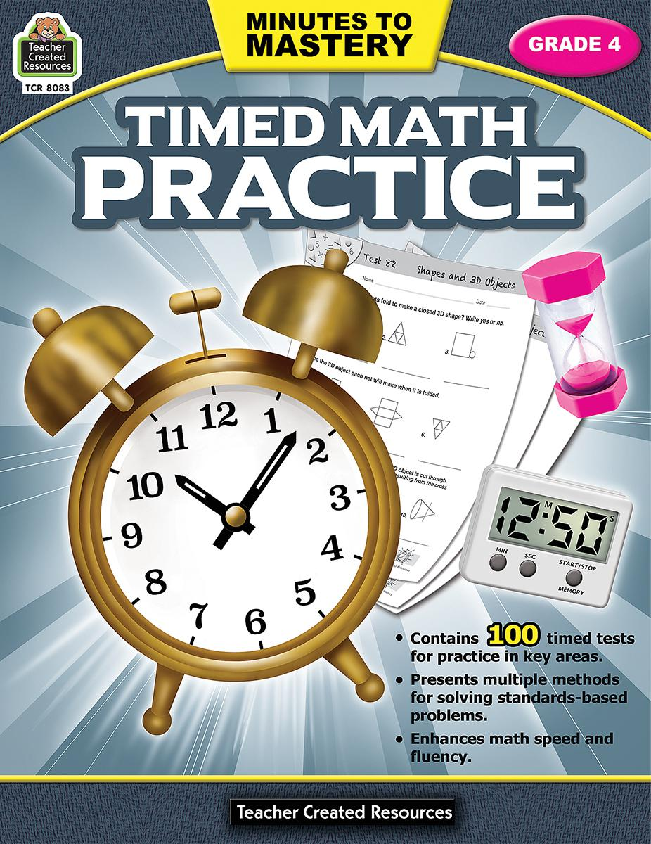 Minutes to Mastery: Timed Math Practice: Gr 4