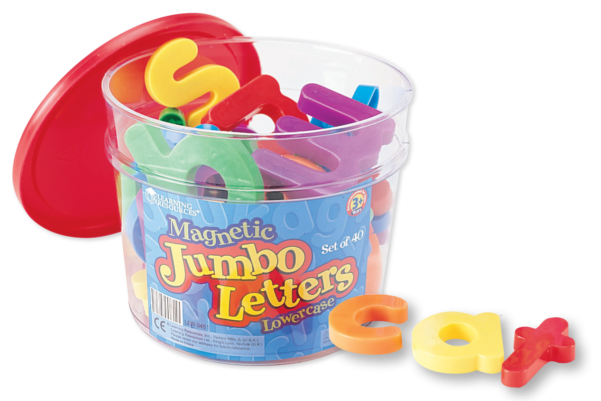 Jumbo Magnetic Letters: Lowercase