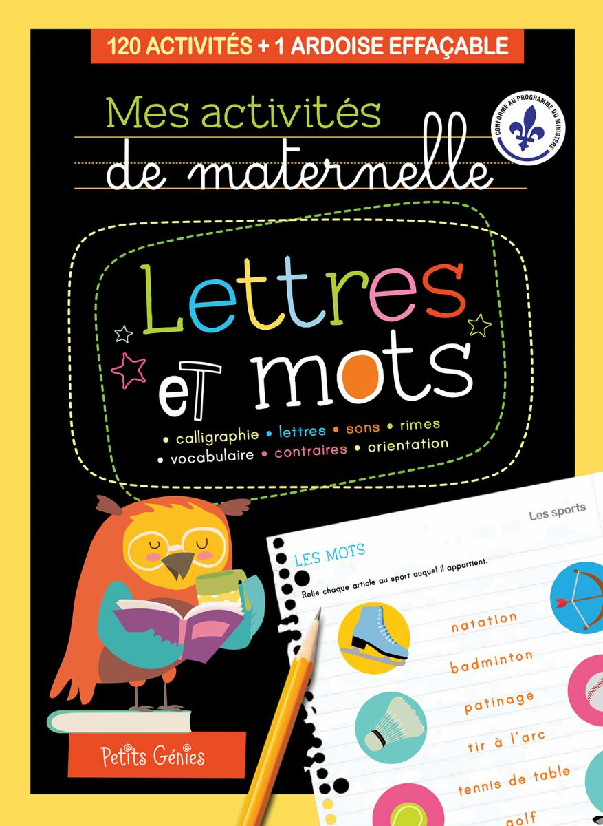 Mes activités de maternelle :  Lettres et mots