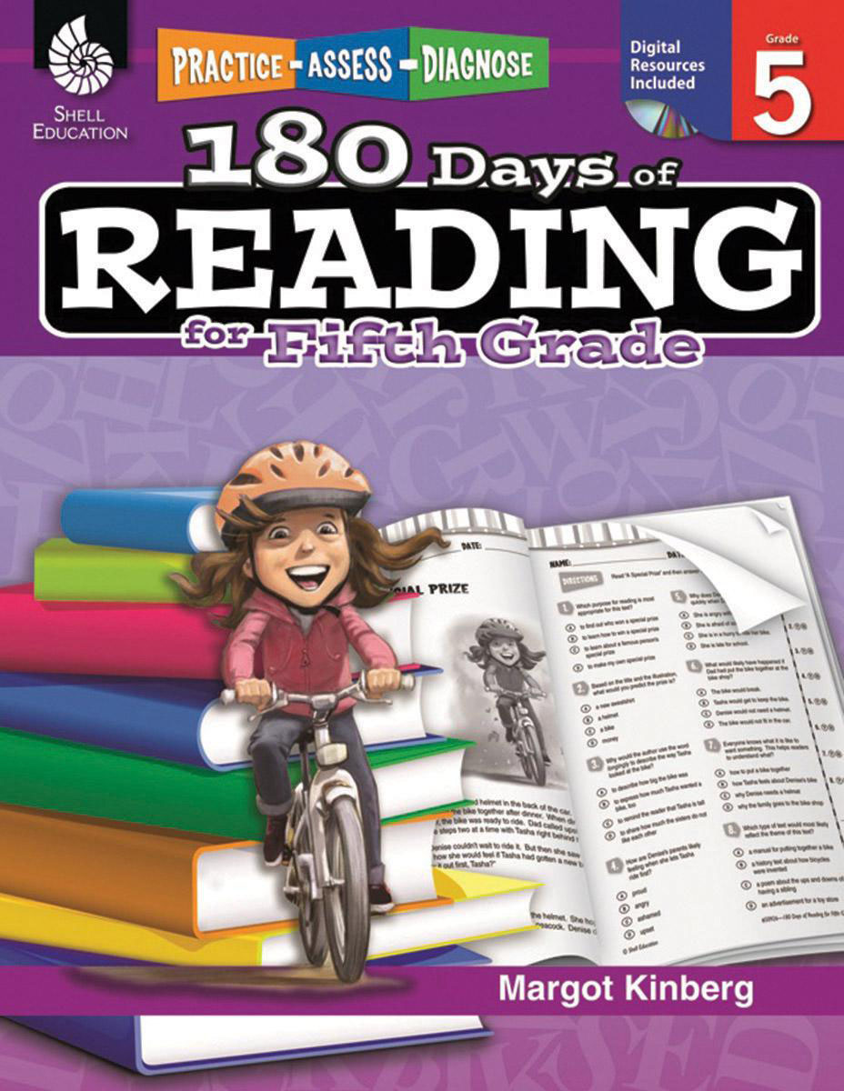 Practice, Assess, Diagnose: 180 Days of Reading, Grade 5