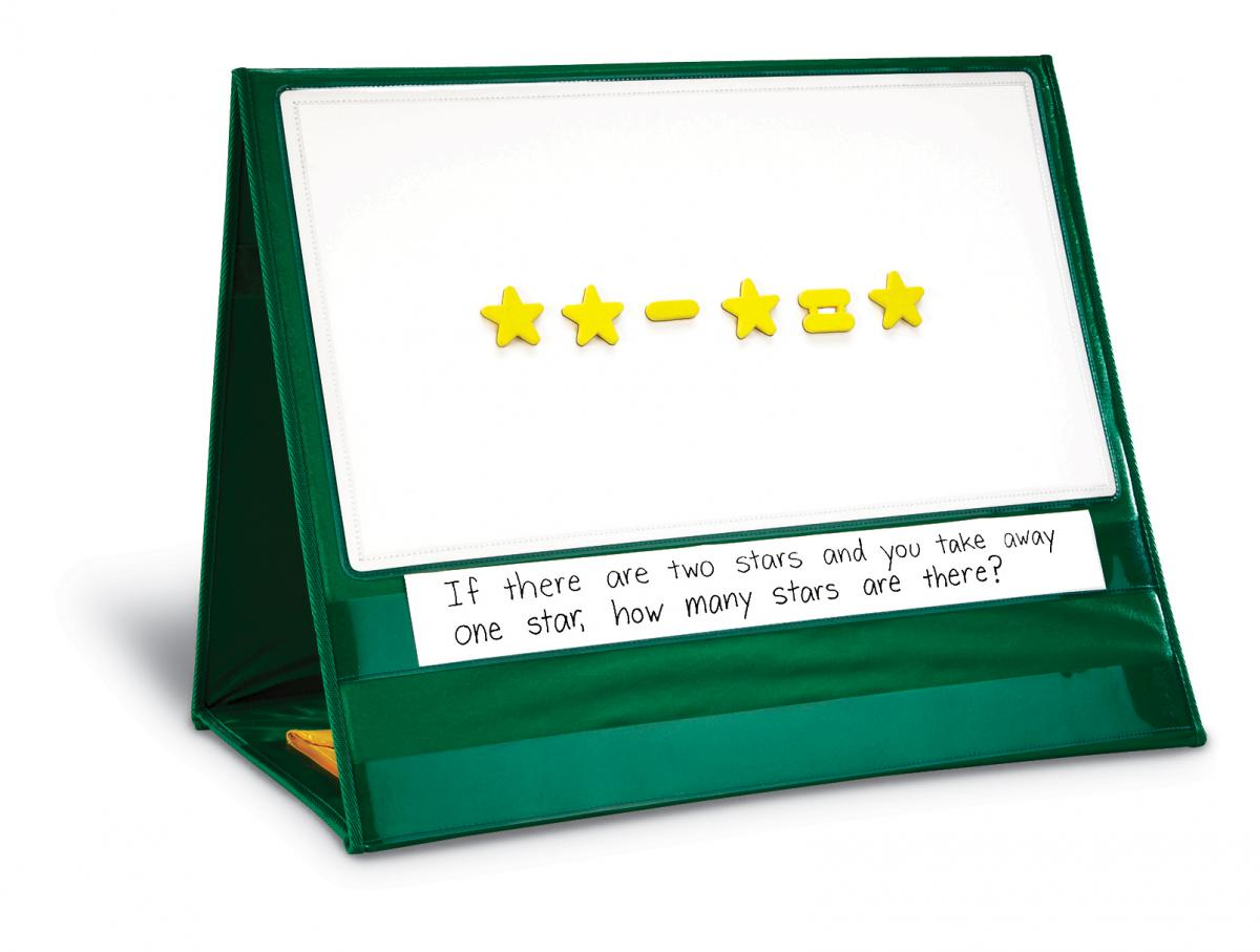 Write-On/Wipe-Off Magnetic Demonstration Tabletop Pocket Chart