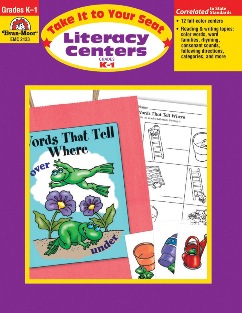 Take It to Your Seat Literacy Centers Grades K-1